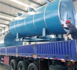 120万大卡燃气导热油炉模温机发货