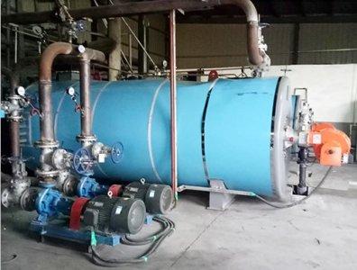 山东诸城导热油炉模温机使用现场
